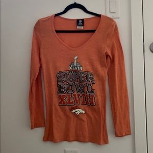 Women's broncos super bowl XLVIII long sleeve